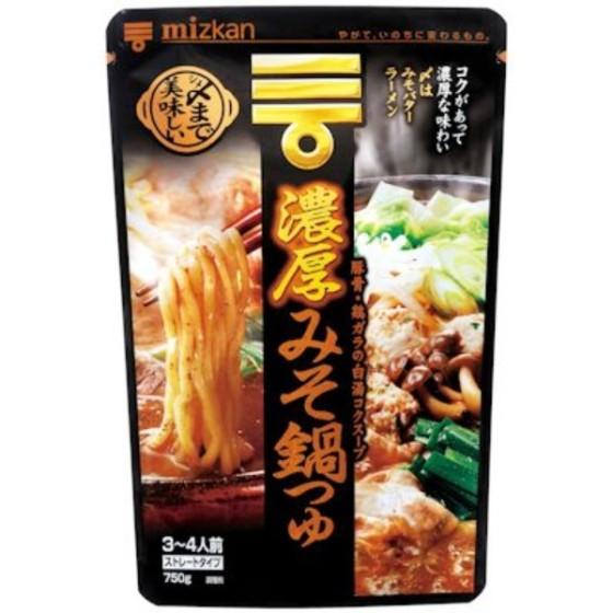 ミツカン 〆まで美味しい 濃厚みそ鍋つゆストレート 750g