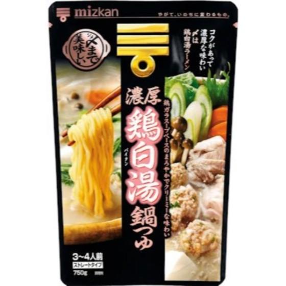 ミツカン 〆まで美味しい 濃厚鶏白湯鍋つゆストレート 750g