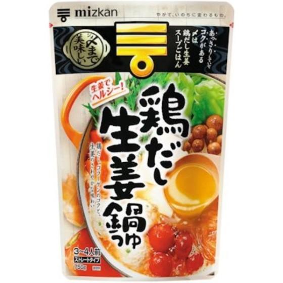 ミツカン 〆まで美味しい 鶏だし生姜鍋つゆストレート 750g
