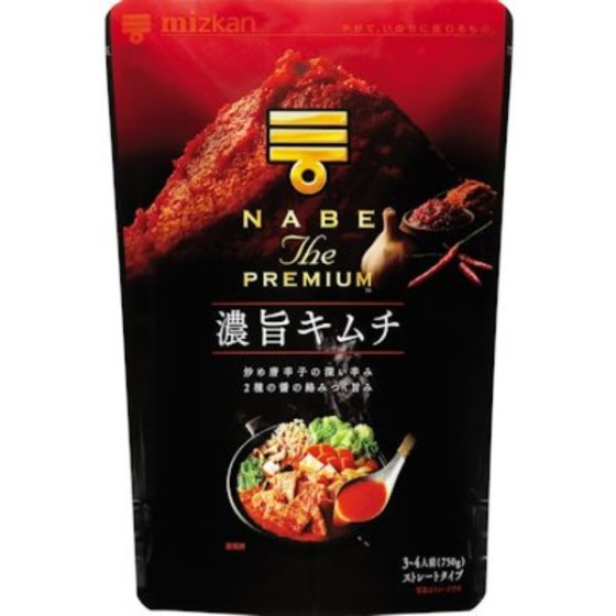 ミツカン NABE THE PREMIUM 濃旨キムチ鍋つゆ 750g