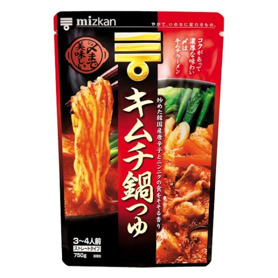 ミツカン 〆まで美味しい キムチ鍋つゆ ストレート 750g