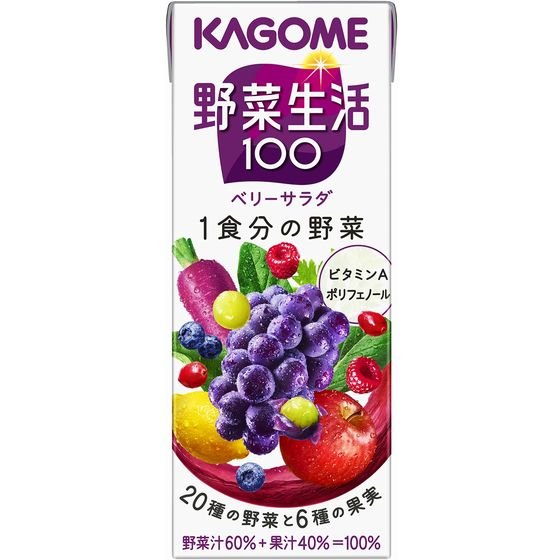 カゴメ野菜生活100ベリーサラダ 200ml