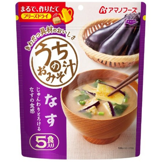 アマノフーズ うちのおみそ汁なす5食