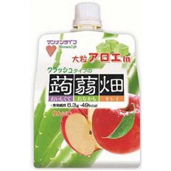 大粒アロエinクラッシュタイプの蒟蒻畑りんご味 150g
