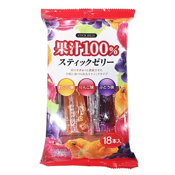 リボン 果汁100%スティックゼリー 18本