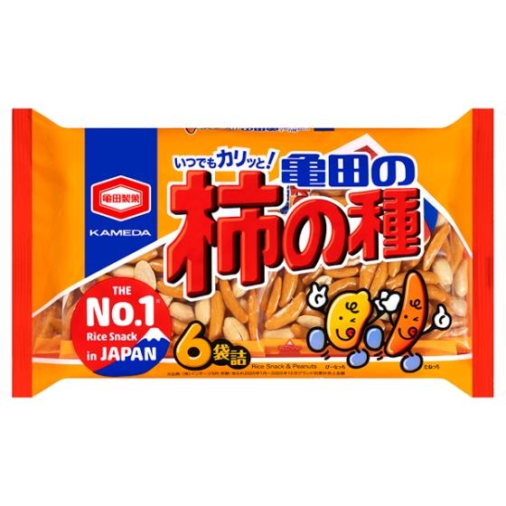 亀田の柿の種6袋詰190g