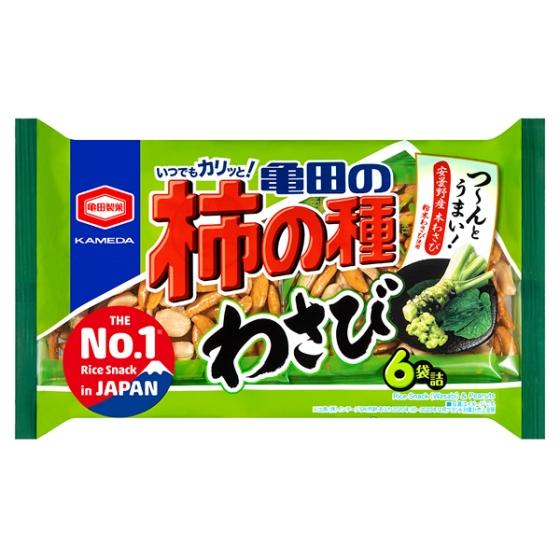 亀田の柿の種わさび6袋詰173g