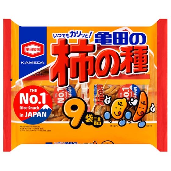 亀田の柿の種9袋詰252g