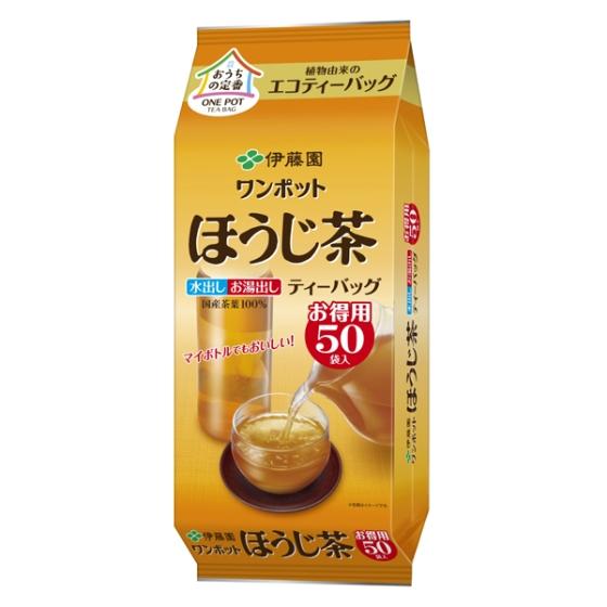ワンポットほうじ茶 エコティーバッグ お得用 50袋