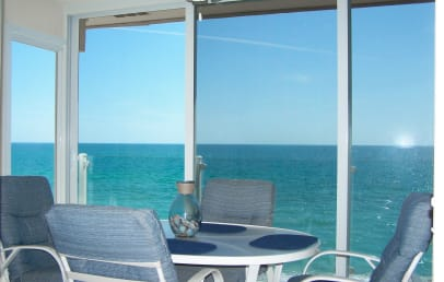 Sit on the lanai and watch dolphins jump and manatees cruise lazily by