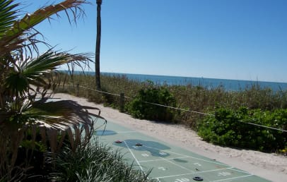 Shuffleboard by the beach
