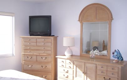 Master suite with TV, DVD and direct gulf view
