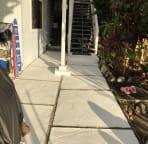 Small private patio