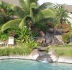 Maui Kamaole pool with waterfall and sand-bottom spa