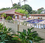 Lower Pool with 2 Gas BBQ Grills, Refrigerator and Dinning Area