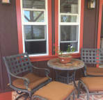 seating area on the deck