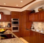 Kitchen island with flat top stove