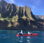 Your hosts, Chris and T. Na pali stay-cation
