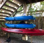 Double kayak & 2 single kayaks