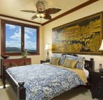 Guest Bedroom with golf course views from window. A queen size bed