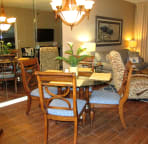 Feel right at home in this nice dining area
