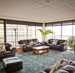 Owners Lounge with panoramic views, billiard table, huge TV, and space to move.