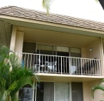 Our condo unit's lanai from ground level