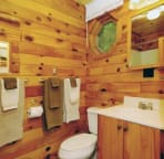 Cabin Full Bath includes Tub and Shower