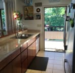 new tile counters in kitchen