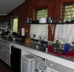Kitchen offers Microwave, Britta Filtered Water, Ninja Juicer, Expresso Coffee Machine, Bean Coffee Grinder, Drip Coffee Maker, Slice Bread Toaster & Post and Pans