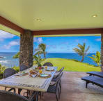 Covered Lanai with a gas barbecue