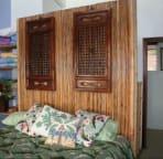2nd bedroom: Queen Bed,  Oceanfront windows behind you!