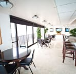The kitchen - Owners Lounge. Gather with others to watch the Friday fireworks!