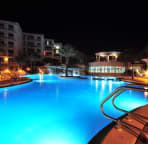 Large pool at night