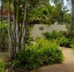 A garden view from the front door too