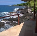 The views from the lanai are nearly 180 degrees.