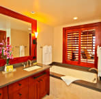 Master Bathroom (bath tub, stand-up shower room and dual vanity)