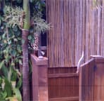 Outdoor shower with hot and cold water!  Bathe under the stars!