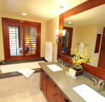 Master bathroom (Bath tub, stand-up shower room, dual vanity and toilet)
