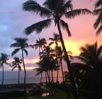 Gorgeous sunsets from the lanai