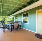 Large oversized covered deck
