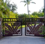 Front Gate welcomes you into a private,secure, one  acre estate