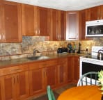 Newly Renovated Kitchen with Cherry Cabinets