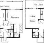 Floor Plan for Wailea Ekolu 710 Two Story Townhouse