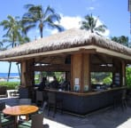 Beach bar in the resort