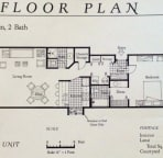 A floor plan for one bedroom condos at Maui Kamaole.