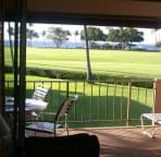 View from unit to golf course and ocean