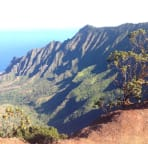 Drive to the end of Waimea Canyon Rd, hike short distance to the right, go early