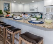 Breakfast bar area, seating for four