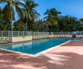 Building's beautiful heated pool